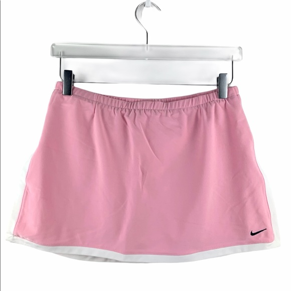 Nike Dri-Fit Border Skort light pink white